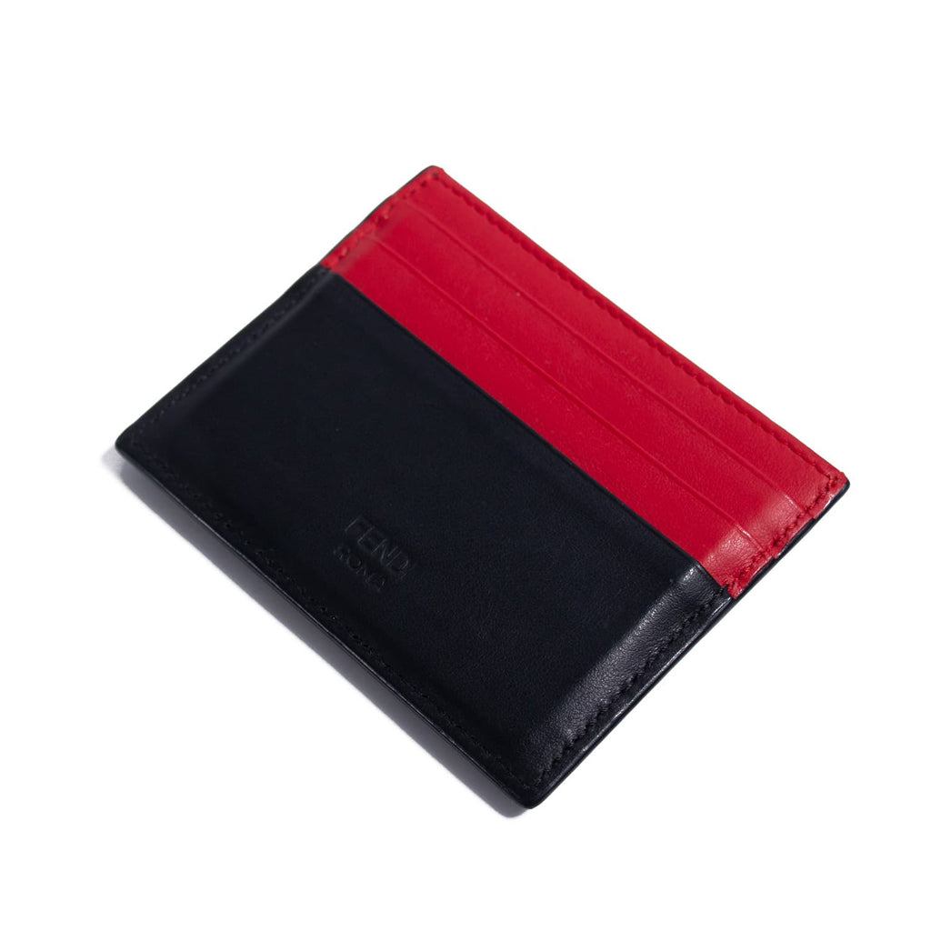 Fendi Monster Leather Card Holder