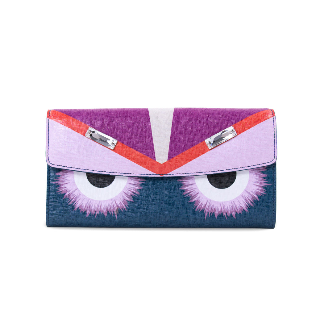 f2823e80eee Shop authentic Fendi Monster Continental Wallet at revogue for just ...
