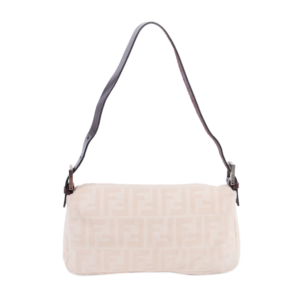 Fendi Natural Canvas Small Baguette Bags Fendi - Shop authentic new pre-owned designer brands online at Re-Vogue