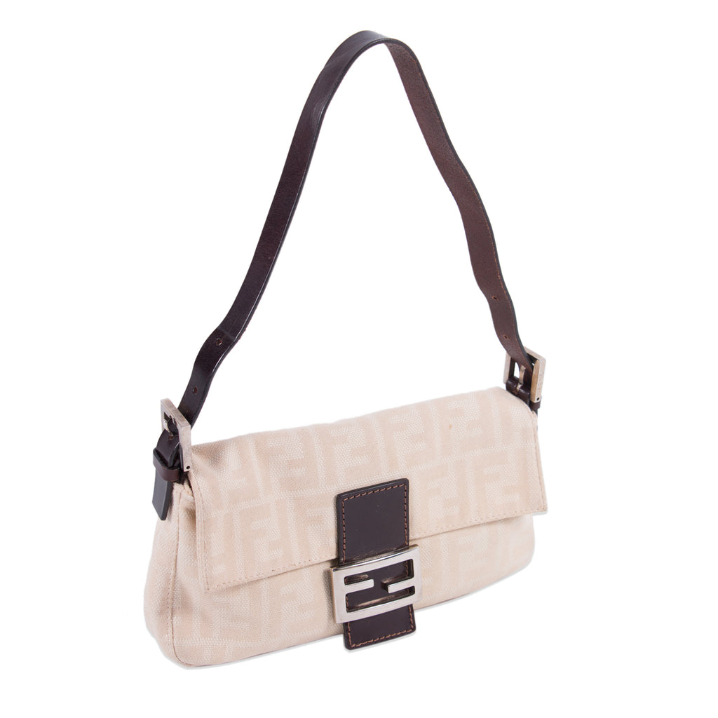 68592c895dde ... Fendi Natural Canvas Small Baguette Bags Fendi - Shop authentic new pre-owned  designer brands ...