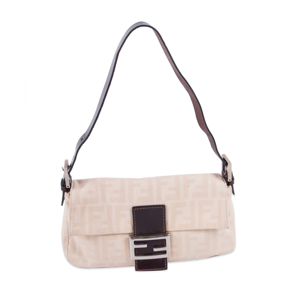 7f7ad82158 Fendi Natural Canvas Small Baguette Bags Fendi - Shop authentic new pre-owned  designer brands ...