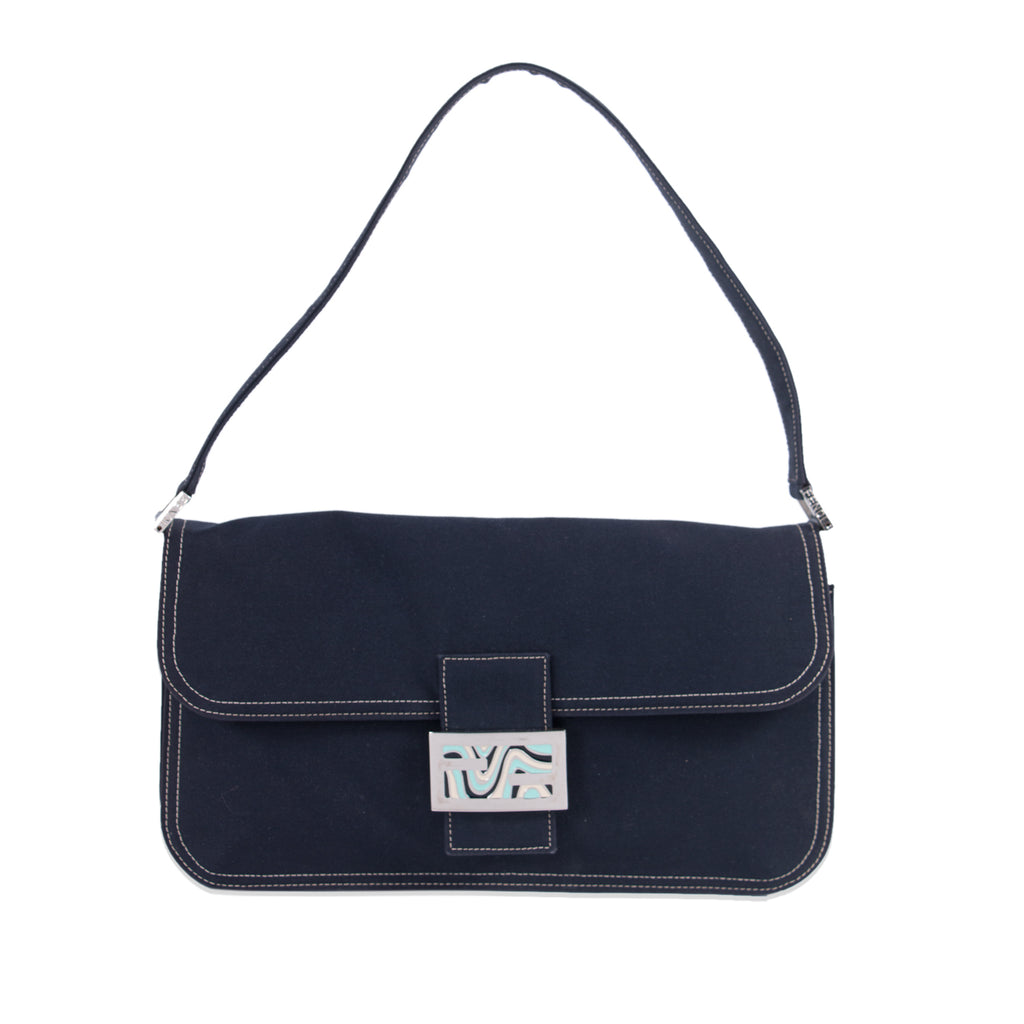 65992a58d328 Shop authentic Fendi Denim Medium Baguette at revogue for just USD ...