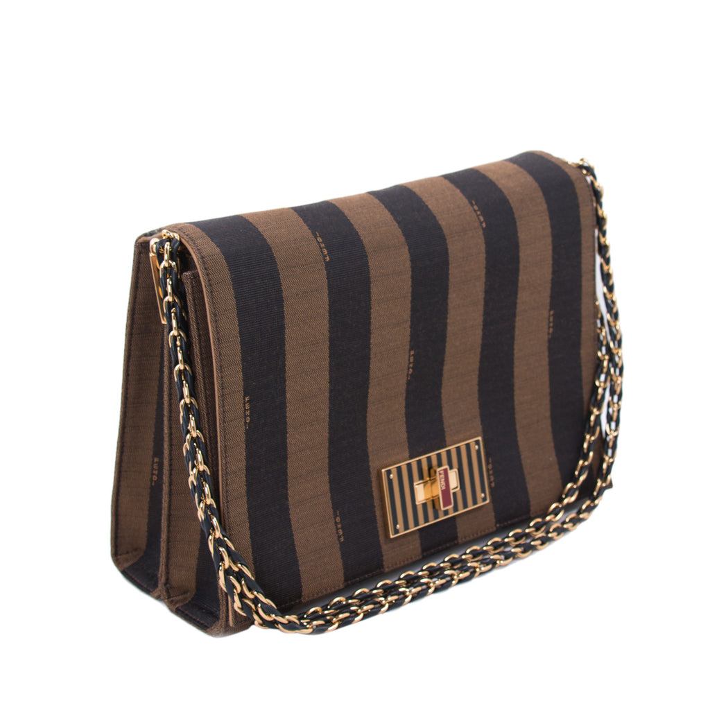 Fendi Pequin Large Claudia Cross Body Bag Bags Fendi - Shop authentic new pre-owned designer brands online at Re-Vogue