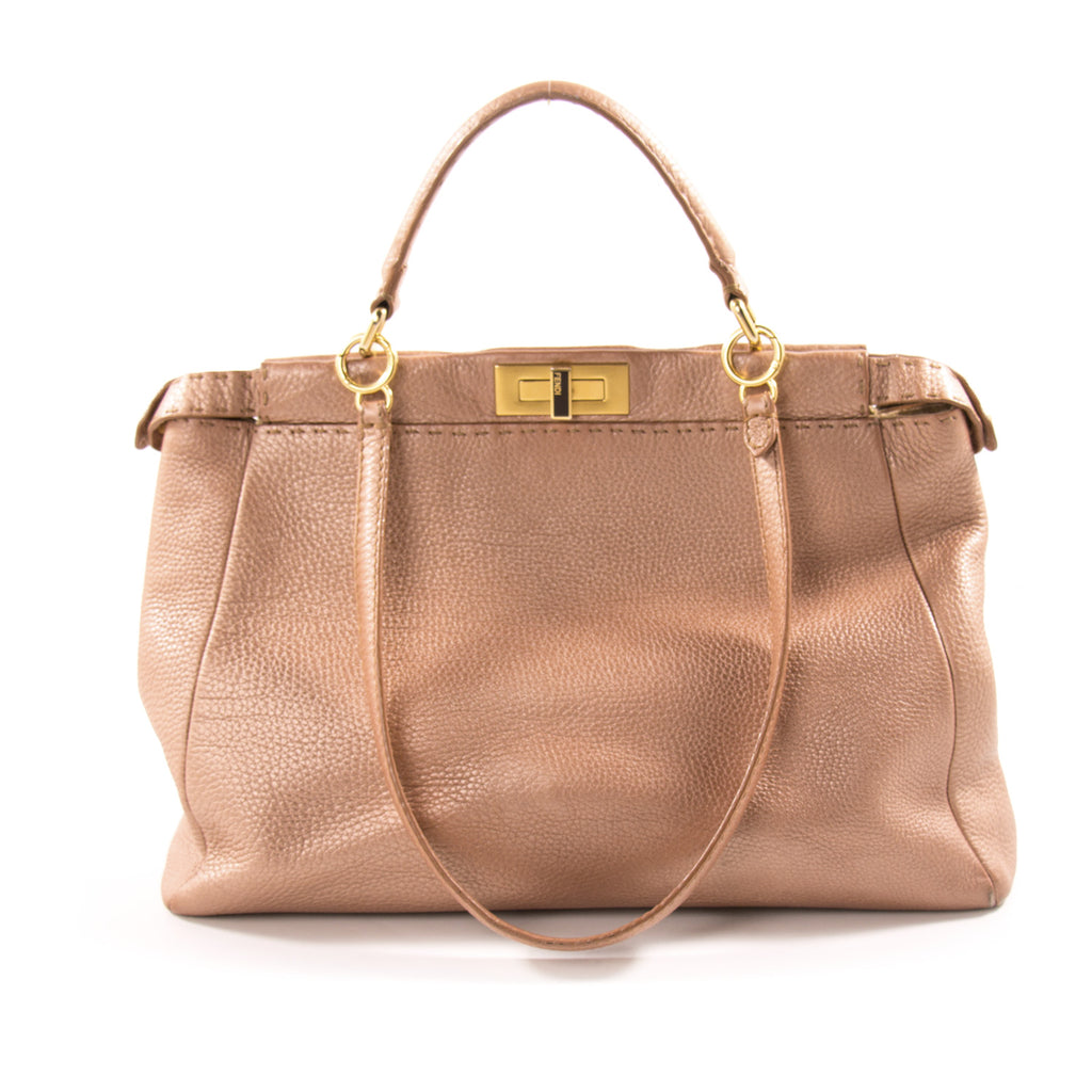 Fendi Large Selleria Peekaboo Shoulder Bag Bags Fendi - Shop authentic new pre-owned designer brands online at Re-Vogue