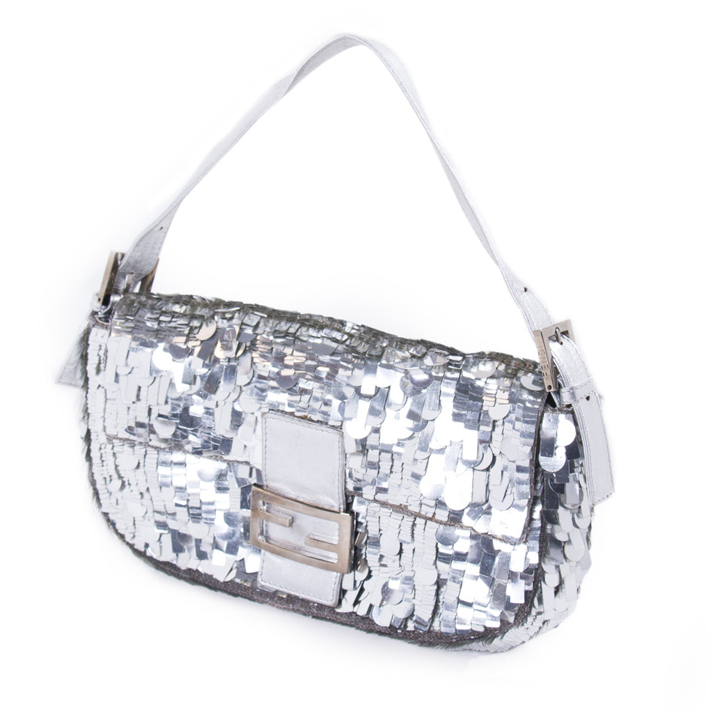 Fendi Silver Sequin Baguette Bags Fendi - Shop authentic new pre-owned designer brands online at Re-Vogue