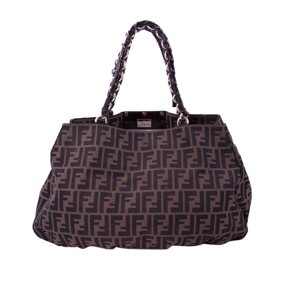 Fendi Mia Zucca Large Canvas Bag Bags Fendi - Shop authentic new pre-owned designer brands online at Re-Vogue