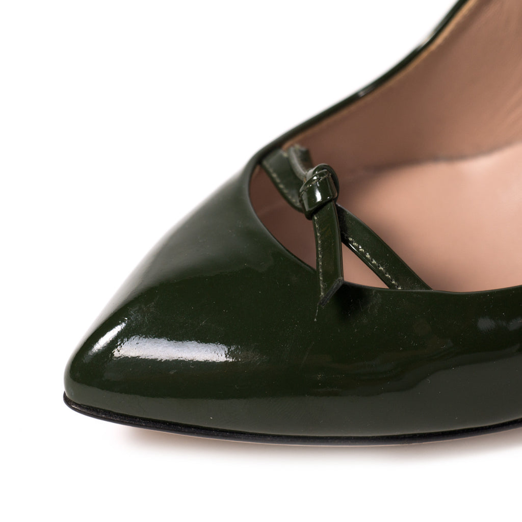 Gucci Pointed Toe Leather Pumps