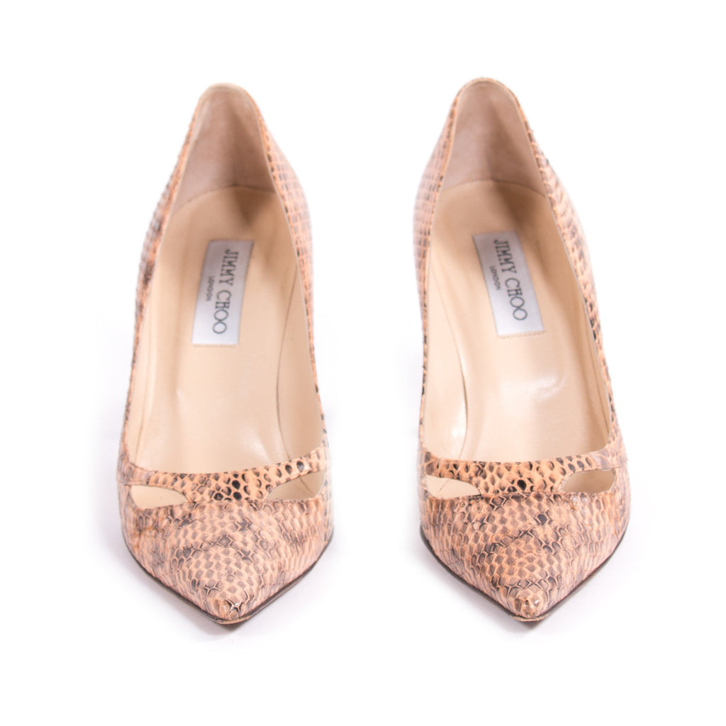 Jimmy Choo Snake Skin Pumps -Shop pre-owned luxury designer brands on discount online at Re-Vogue