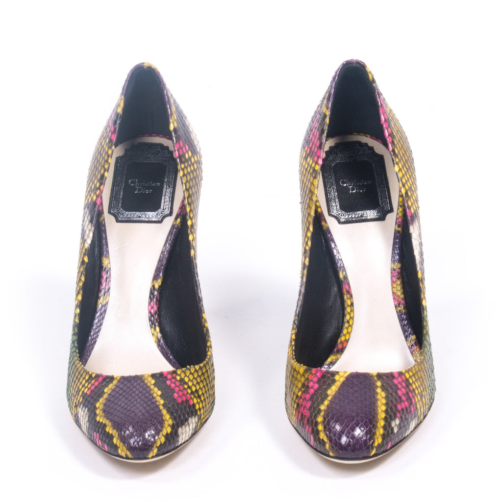 Dior Colorful Python Pumps Shoes Dior - Shop authentic new pre-owned designer brands online at Re-Vogue