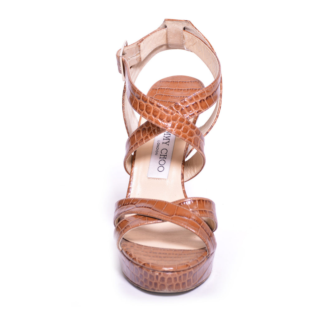 Jimmy Choo Snake Skin Sandals Shoes Jimmy Choo - Shop authentic new pre-owned designer brands online at Re-Vogue