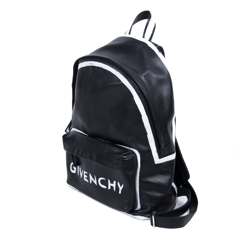 Givenchy Graffiti Logo Leather Backpack Bags Givenchy - Shop authentic new pre-owned designer brands online at Re-Vogue