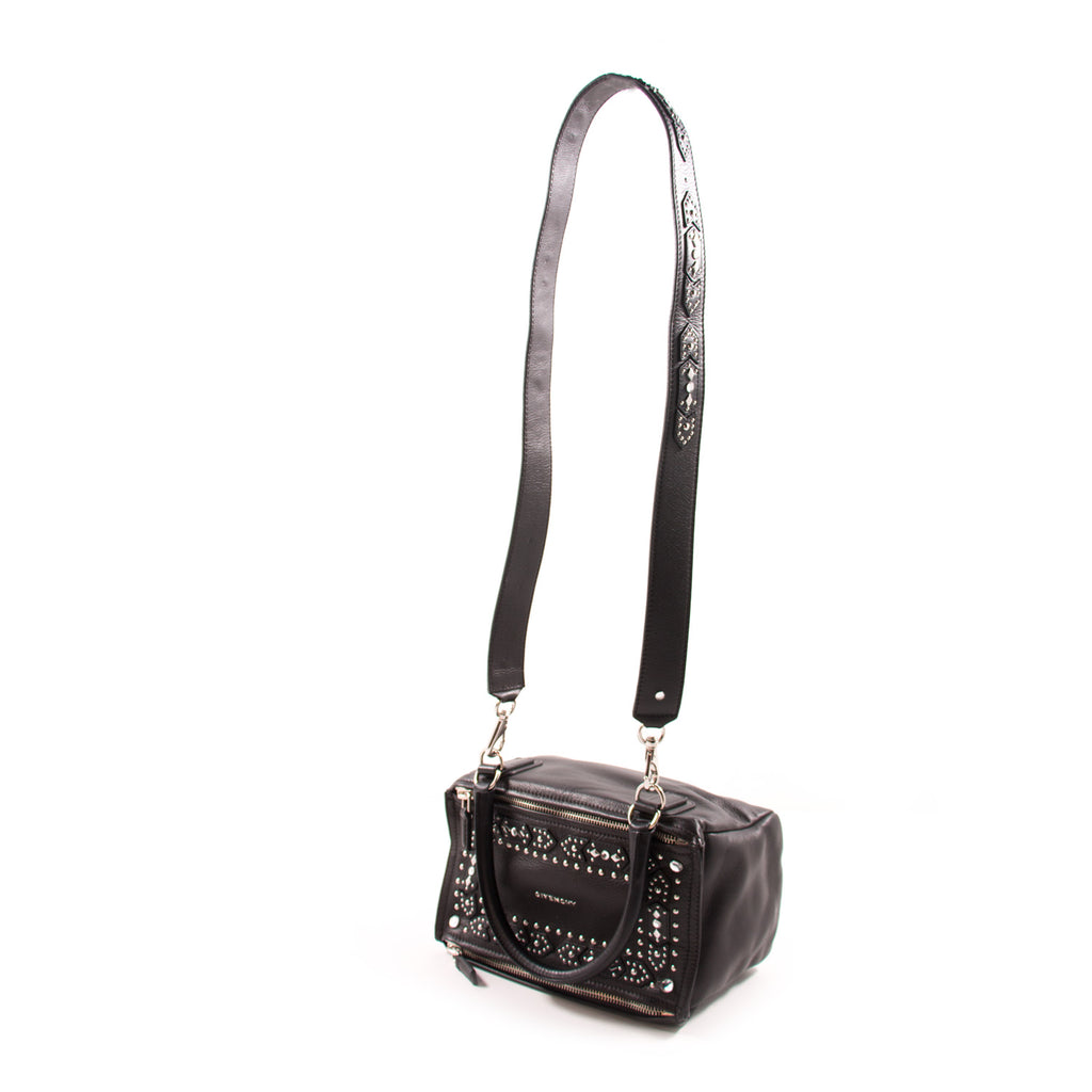 Givenchy Black Goatskin Leather Small Pandora Bag Bags Givenchy - Shop authentic new pre-owned designer brands online at Re-Vogue