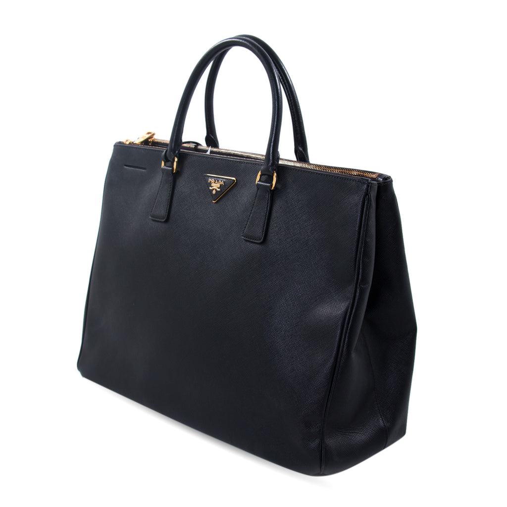8972e38831a7 Shop authentic Prada Extra Large Lux Galleria Double Zip Tote at ...