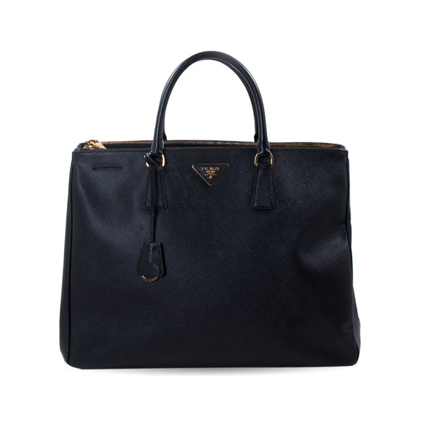 58a5742e3f85 Shop authentic Prada Extra Large Lux Galleria Double Zip Tote at revogue  for just USD 700.00
