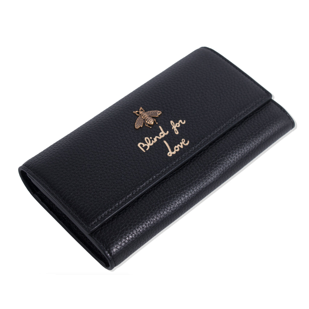 56e7dd21460c Shop authentic Gucci Animalier Blind For Love Wallet at revogue for ...