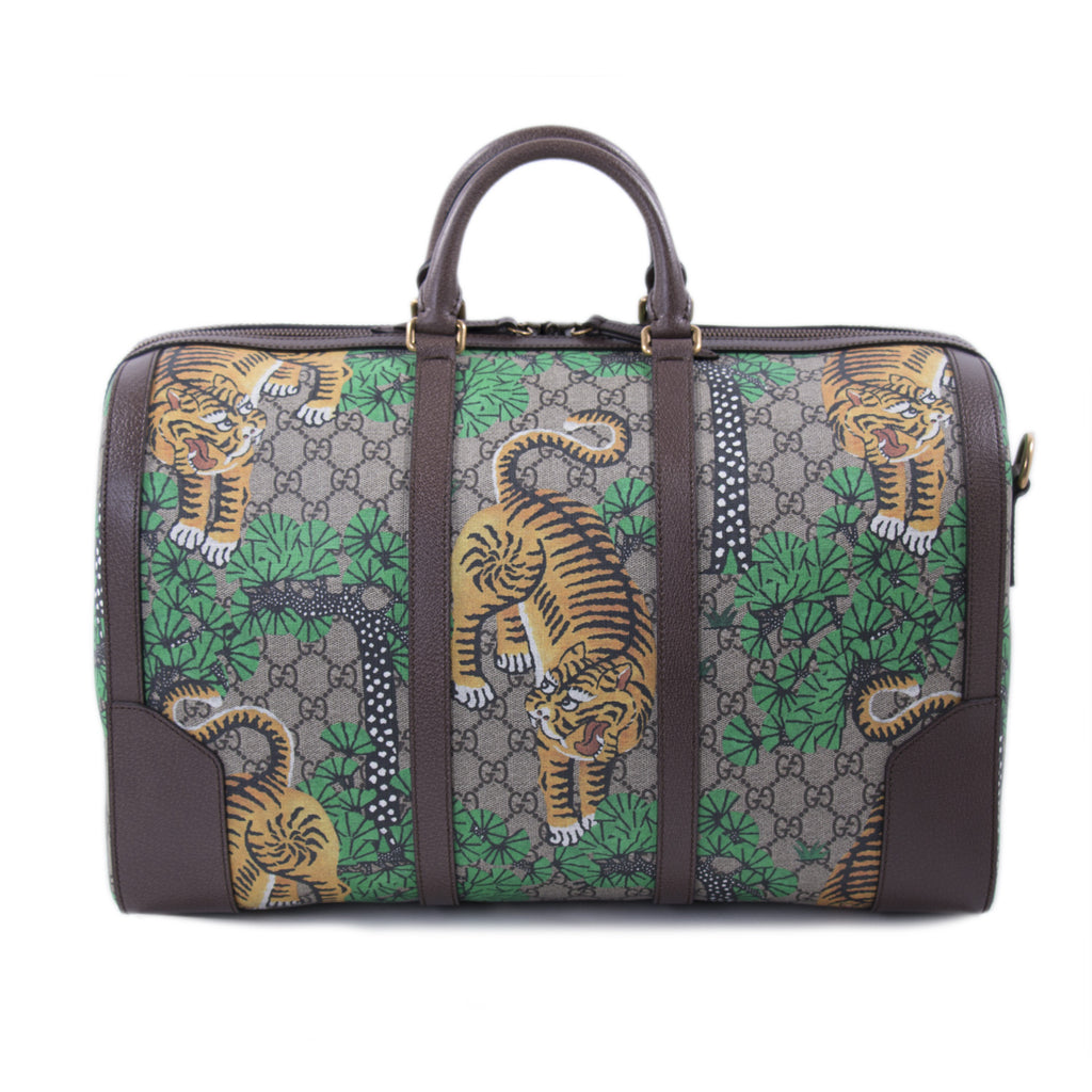 Gucci Bengal GG Supreme Weekender Duffle Bag Bags Gucci - Shop authentic new pre-owned designer brands online at Re-Vogue