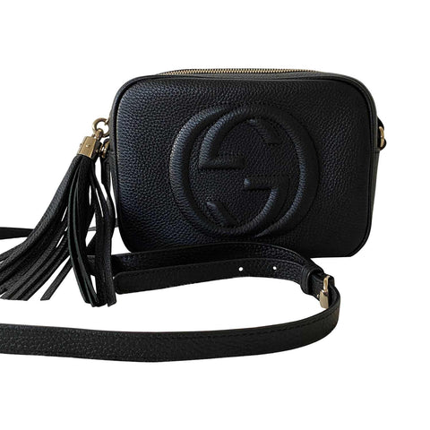 Valentino Small Glam Lock Noir Crossbody Bag