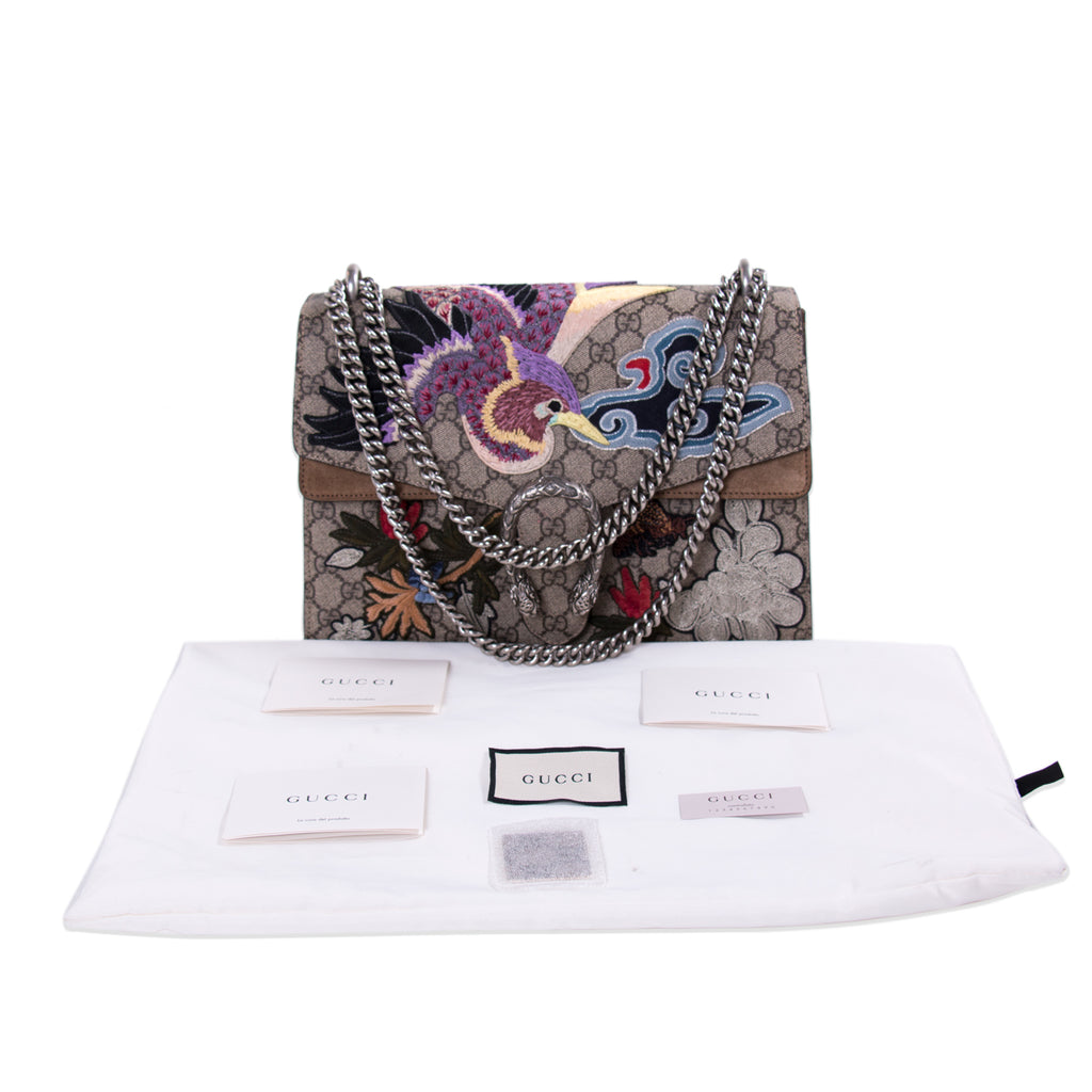 Gucci Dionysus Embroidered GG Supreme Shoulder Bag Bags Gucci - Shop authentic new pre-owned designer brands online at Re-Vogue