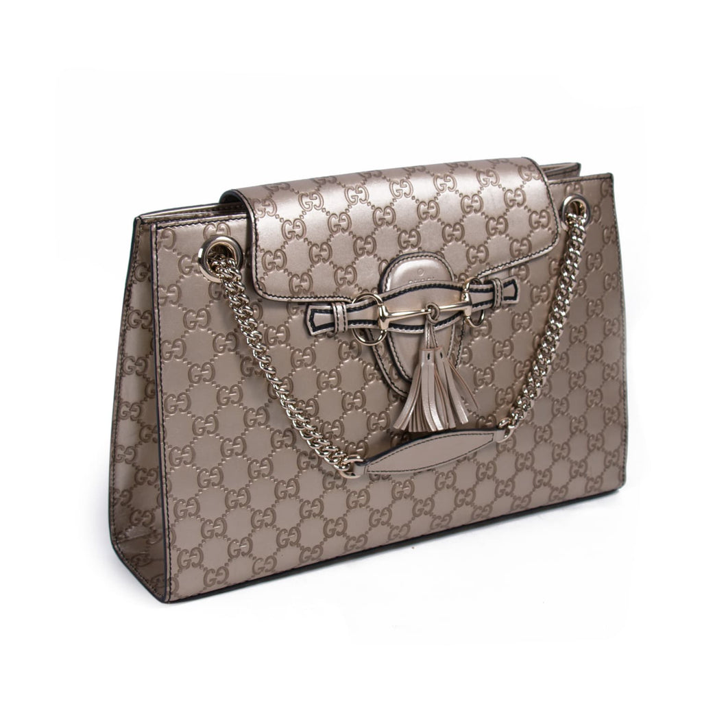 Gucci Emily Large Chain Shoulder Bag Bags Gucci - Shop authentic new pre-owned designer brands online at Re-Vogue