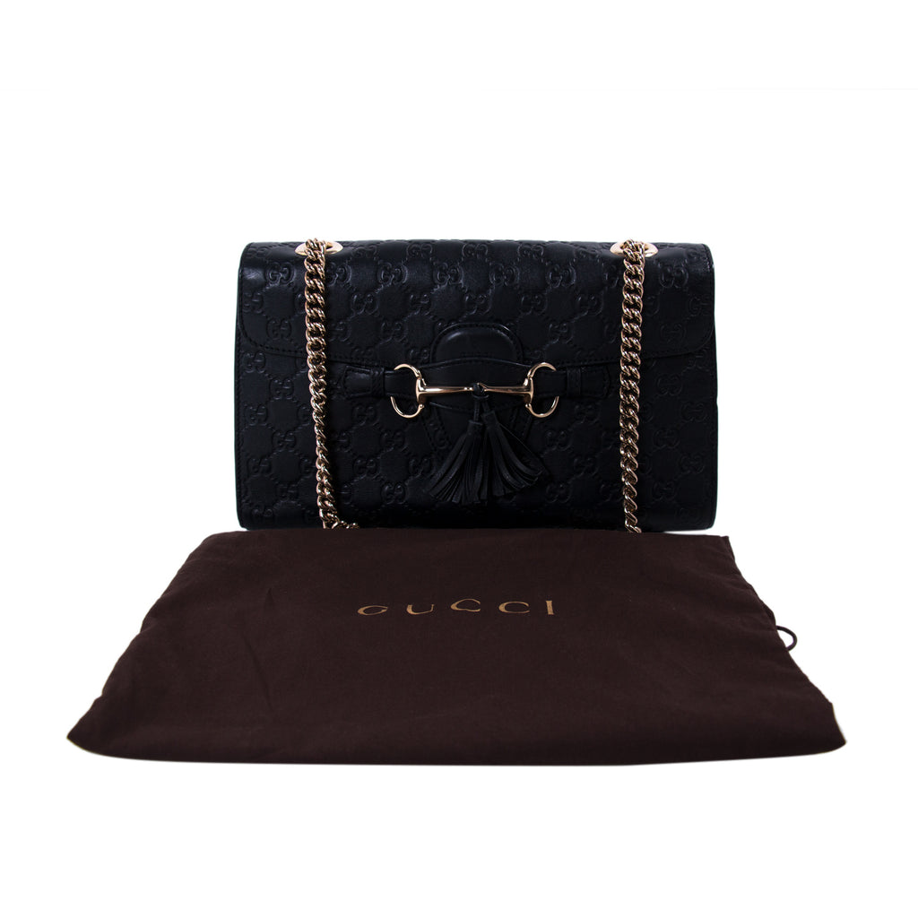Gucci Guccissima Emily Medium Shoulder Bag Bags Gucci - Shop authentic new pre-owned designer brands online at Re-Vogue
