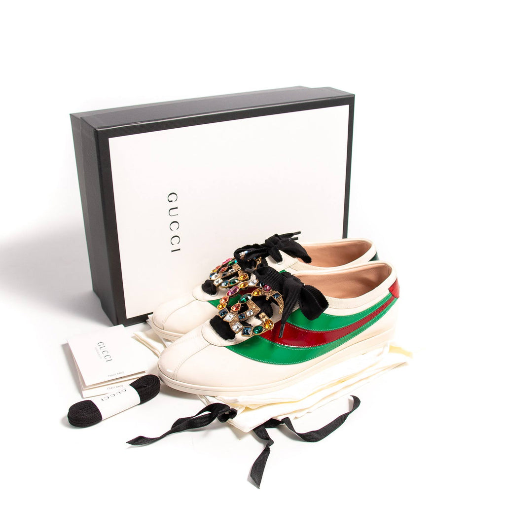 Gucci Falacer Web Sneakers Shoes Gucci - Shop authentic new pre-owned designer brands online at Re-Vogue
