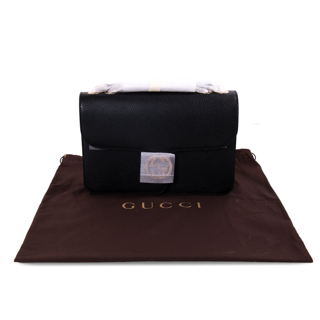 Gucci GG Interlocking Medium Leather Bag Bags Gucci - Shop authentic new pre-owned designer brands online at Re-Vogue