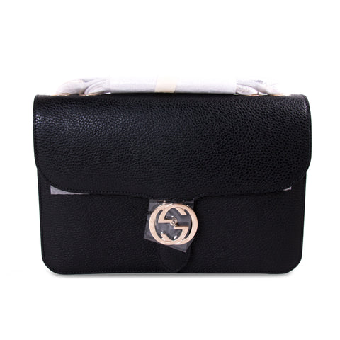 dd0a5c9c2 Shop authentic Gucci GG Interlocking Medium Leather Bag at revogue for just  USD 1,500.00