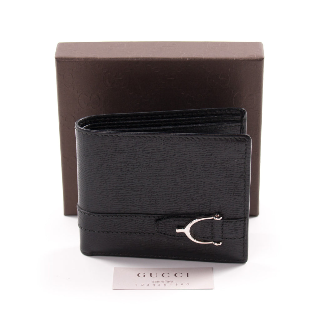 d189fad4a103a1 ... Gucci Men Leather Bi-Fold Wallet Accessories Gucci - Shop authentic new  pre-owned ...