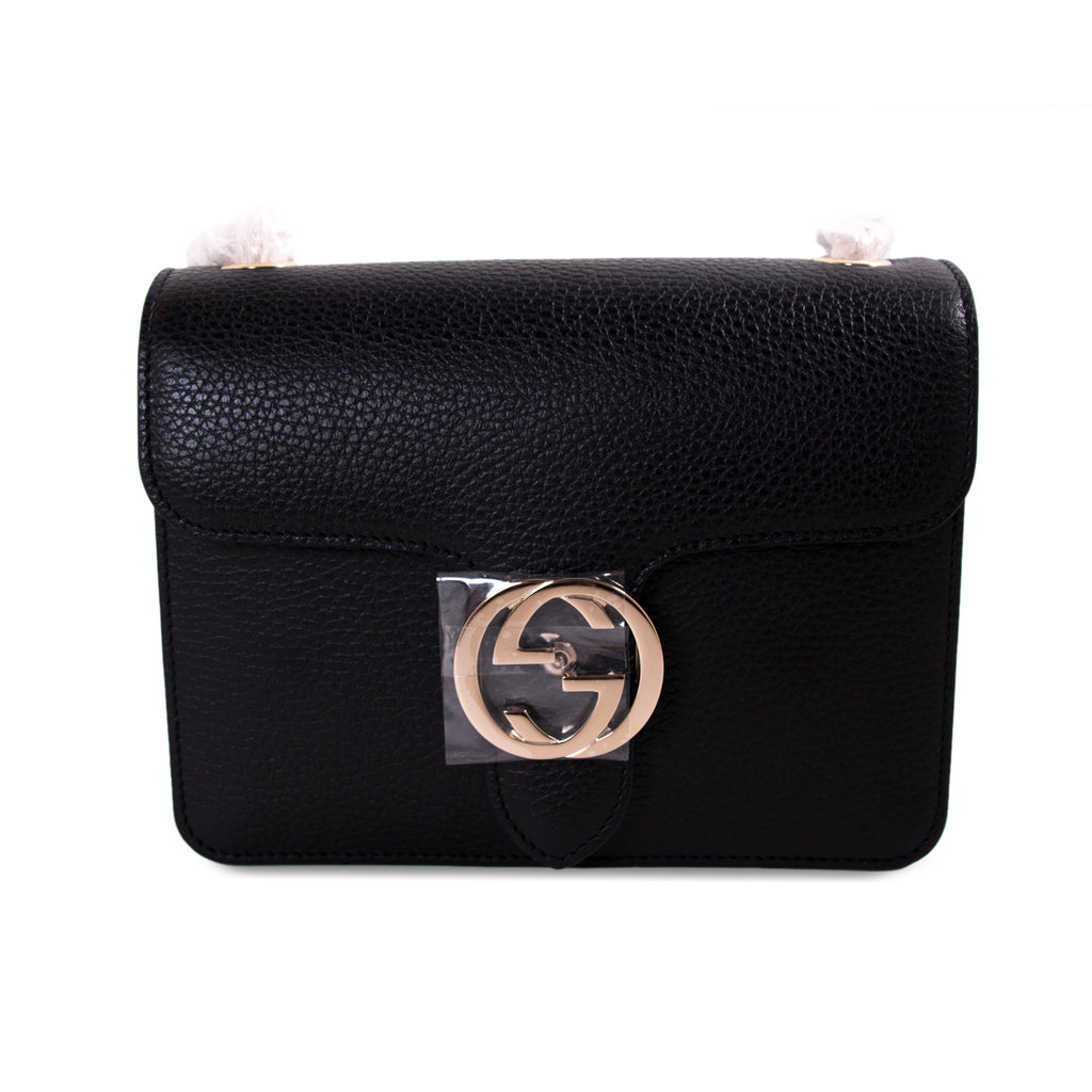 c7c426a769d Shop authentic Gucci GG Interlocking Small Leather Bag at revogue ...