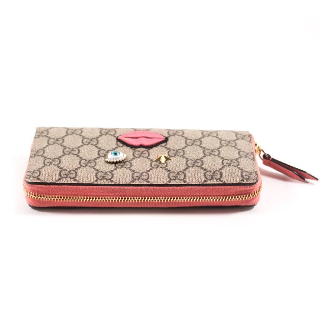 Gucci GG Supreme Zip Around Wallet Accessories Gucci - Shop authentic new pre-owned designer brands online at Re-Vogue