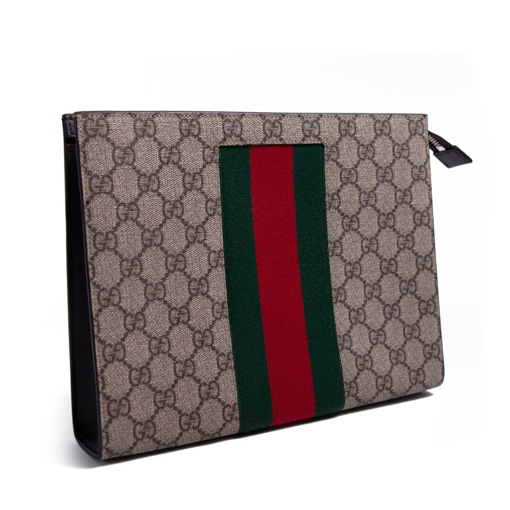 Gucci GG Supreme Web pouch Bags Gucci - Shop authentic new pre-owned designer brands online at Re-Vogue