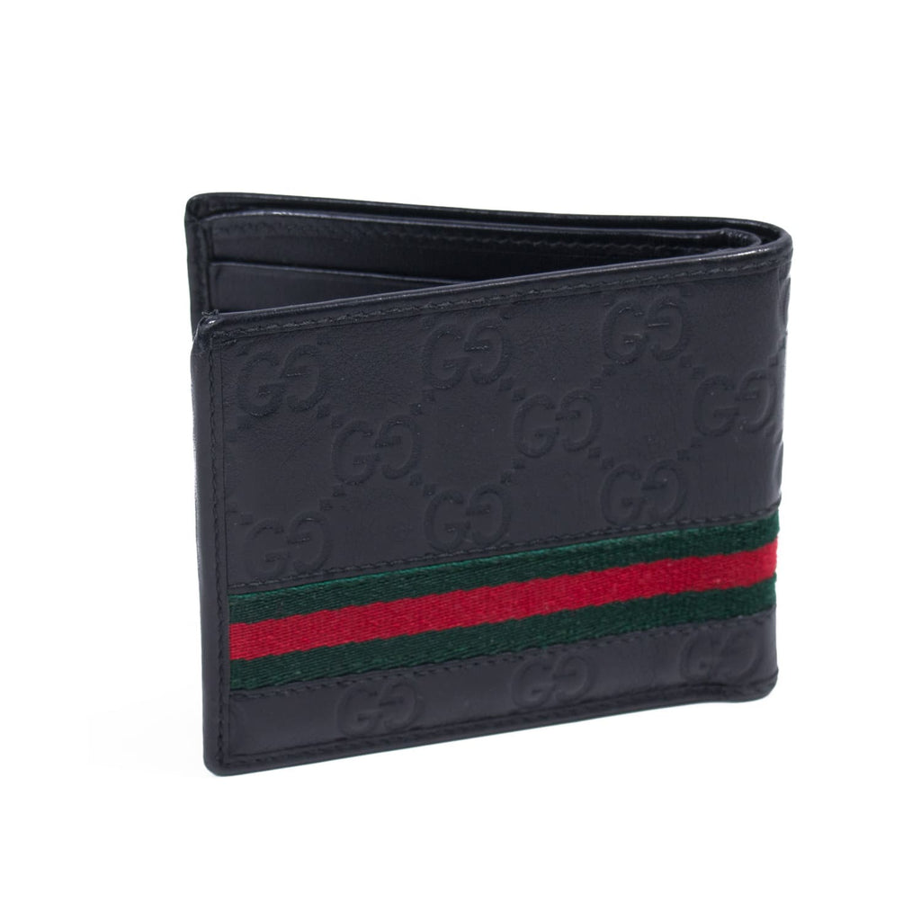 Gucci Guccissima Web Bi-Fold Wallet Bags Gucci - Shop authentic new pre-owned designer brands online at Re-Vogue