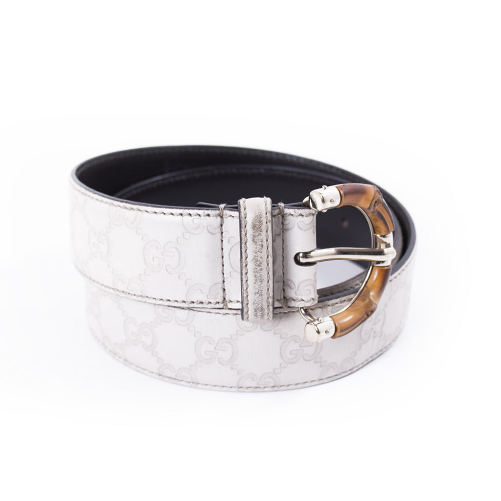 Gucci Guccissima Bamboo Belt Accessories Gucci - Shop authentic new pre-owned designer brands online at Re-Vogue