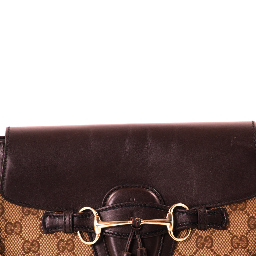 Gucci GG Canvas Emily Large Shoulder Bag Bags Gucci - Shop authentic new pre-owned designer brands online at Re-Vogue