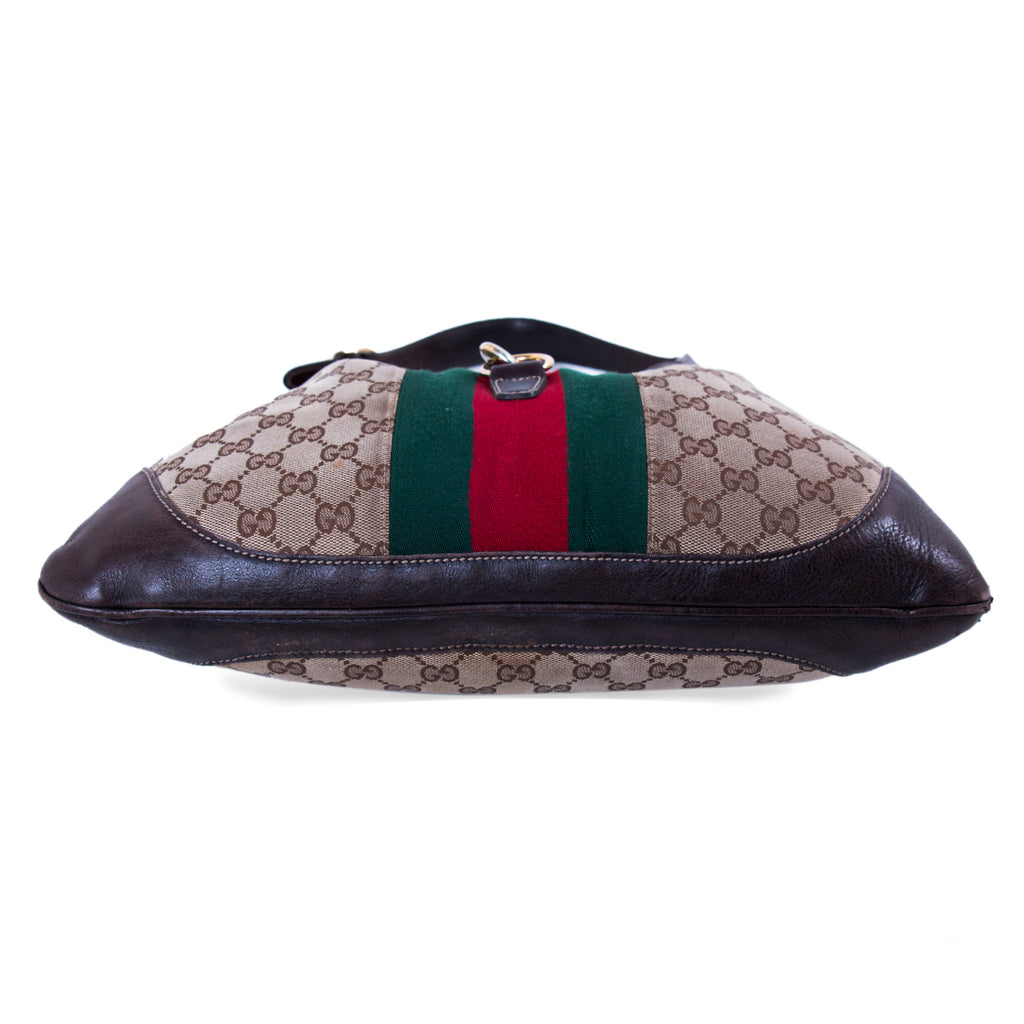Gucci Jackie Web Stripe Shoulder Bag Bags Gucci - Shop authentic new pre-owned designer brands online at Re-Vogue