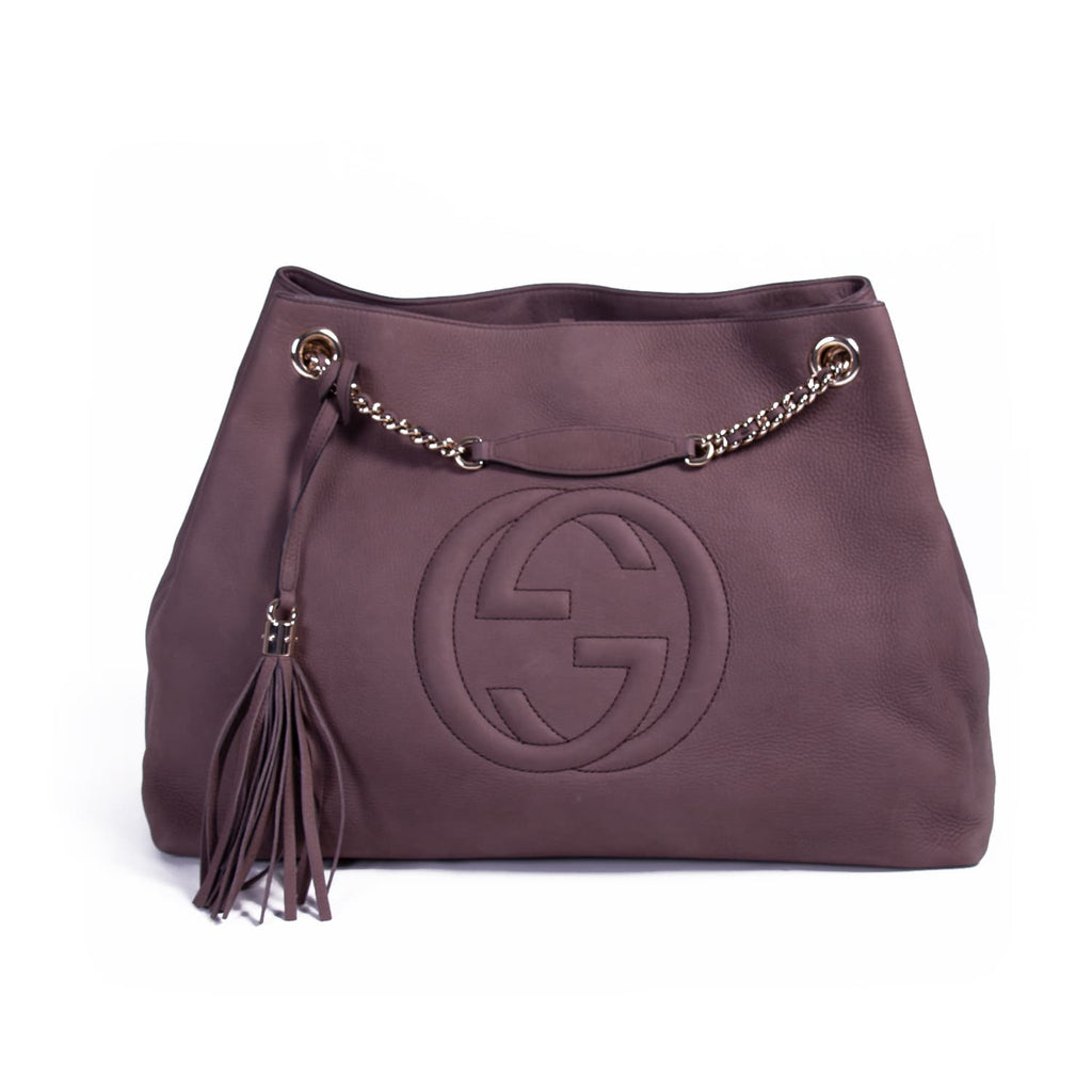 1ee4a9f3608812 Shop authentic Gucci Soho Chain-Strap Tote Bag at revogue for just ...