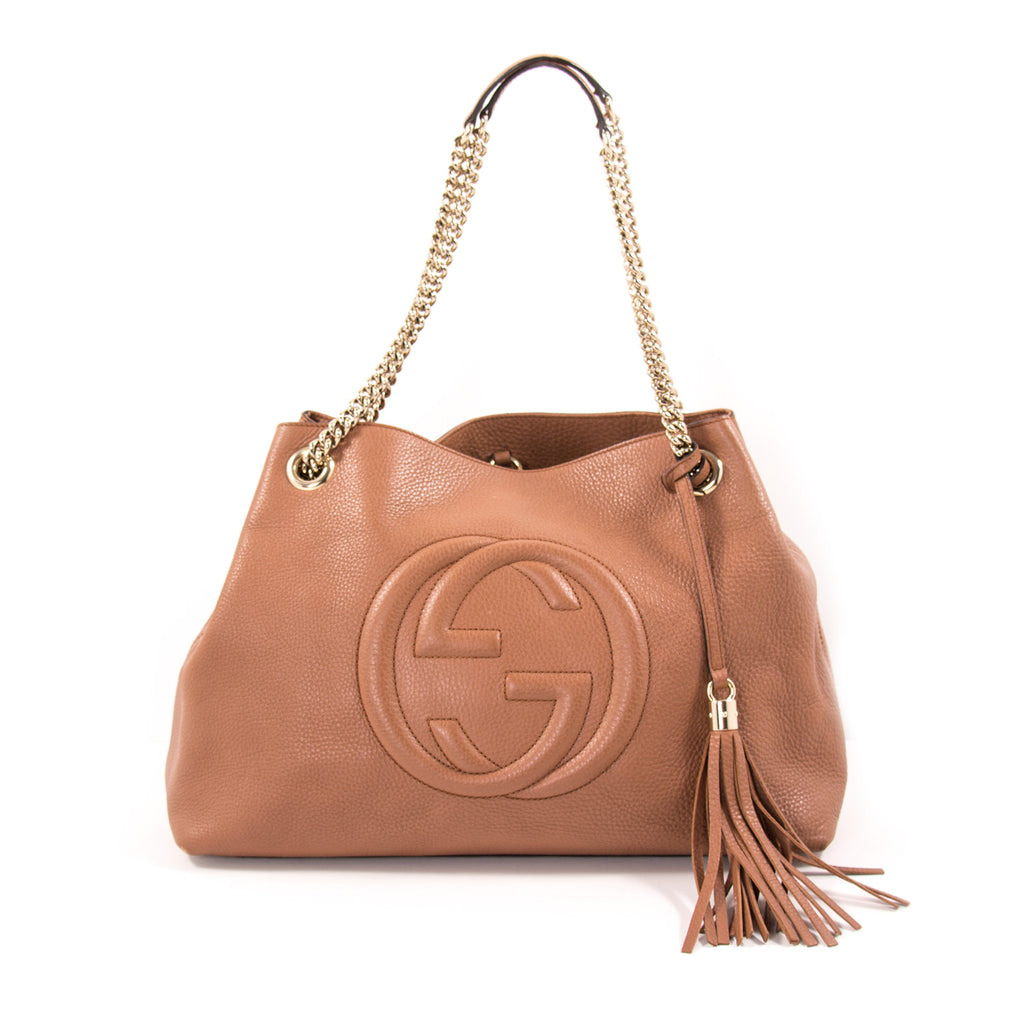 cdca88d9d Gucci Soho Large Chain Shoulder Bag Bags Gucci - Shop authentic new  pre-owned designer