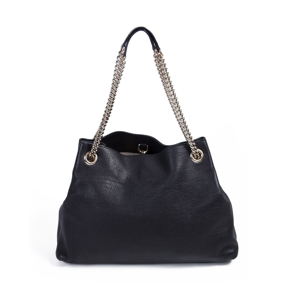 6093f0485e9251 Shop authentic Gucci Leather Soho Tote bag at revogue for just USD ...