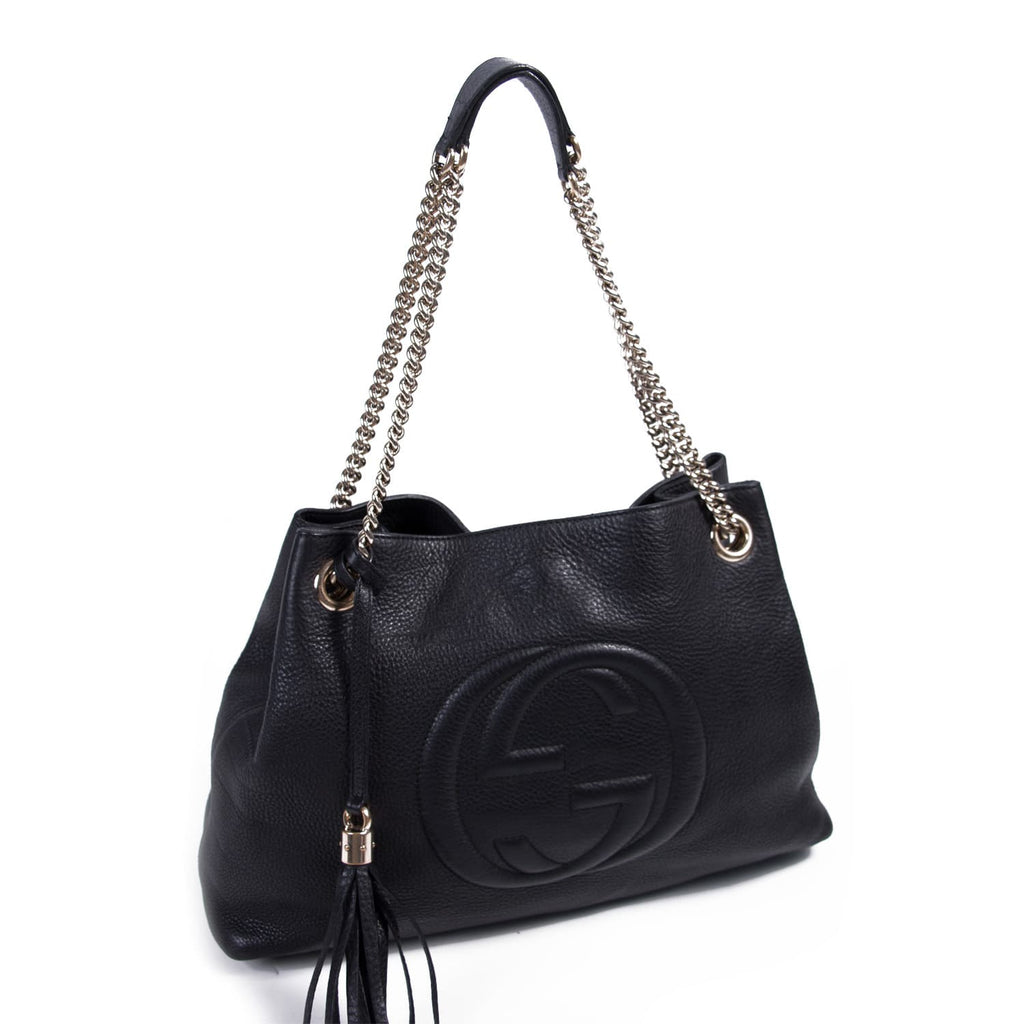 3225f8648 Shop authentic Gucci Leather Soho Tote bag at revogue for just USD ...