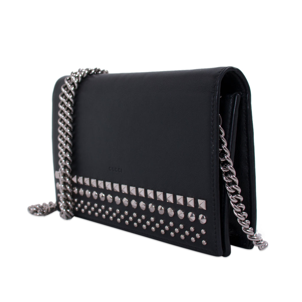 6ecc9214cce Shop authentic Gucci Studded Wallet on Chain at Re-Vogue for just ...