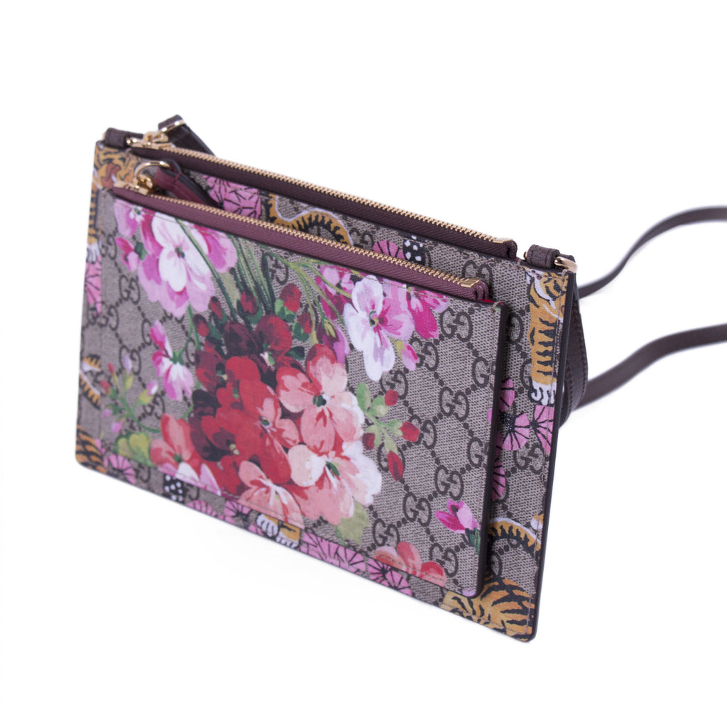 e7ca460a98a ... Gucci Bengal Blooms Dual Pouch Crossbody Bags Gucci - Shop authentic  new pre-owned designer ...