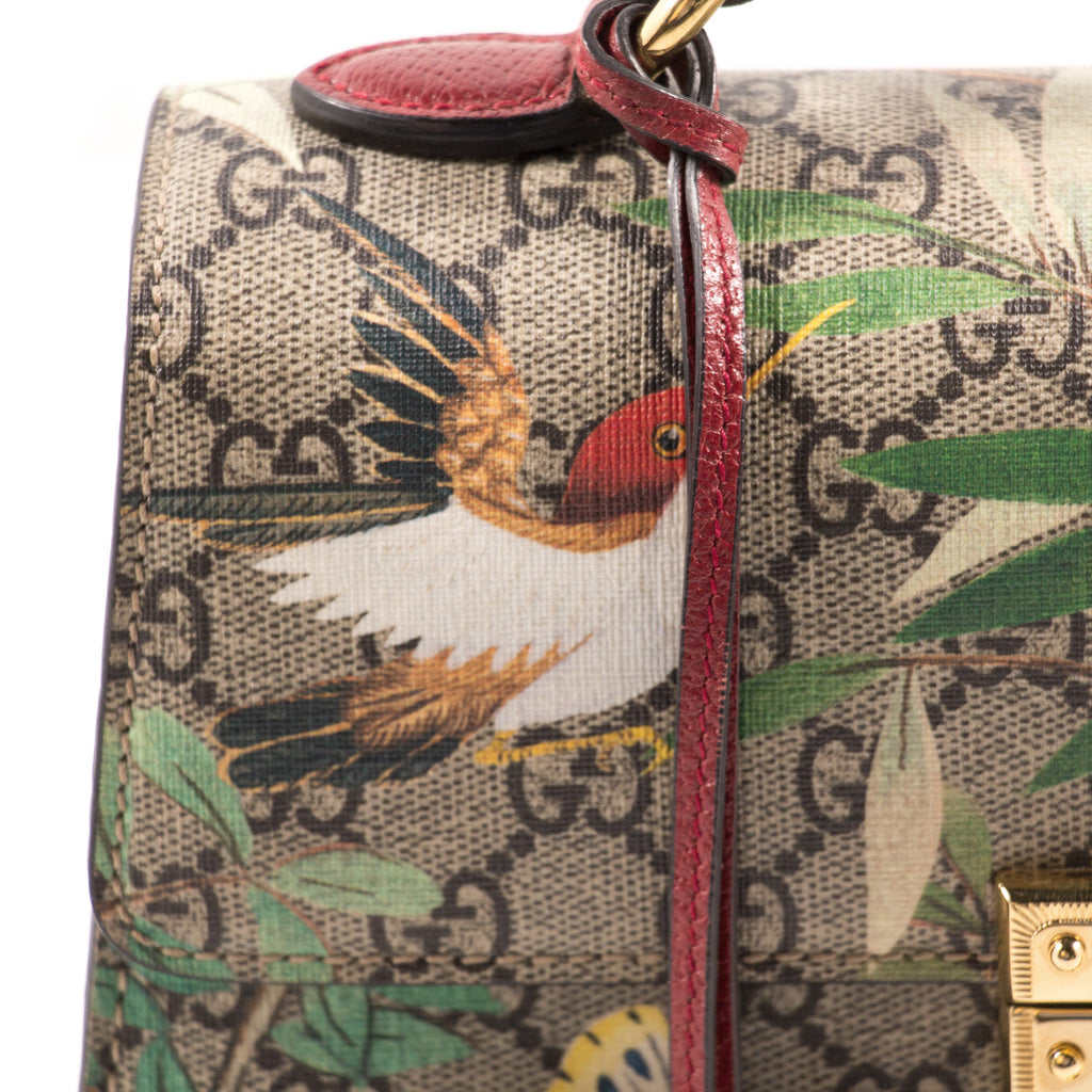 Gucci GG Supreme Tian Padlock Top Handle Bag Bags Gucci - Shop authentic new pre-owned designer brands online at Re-Vogue