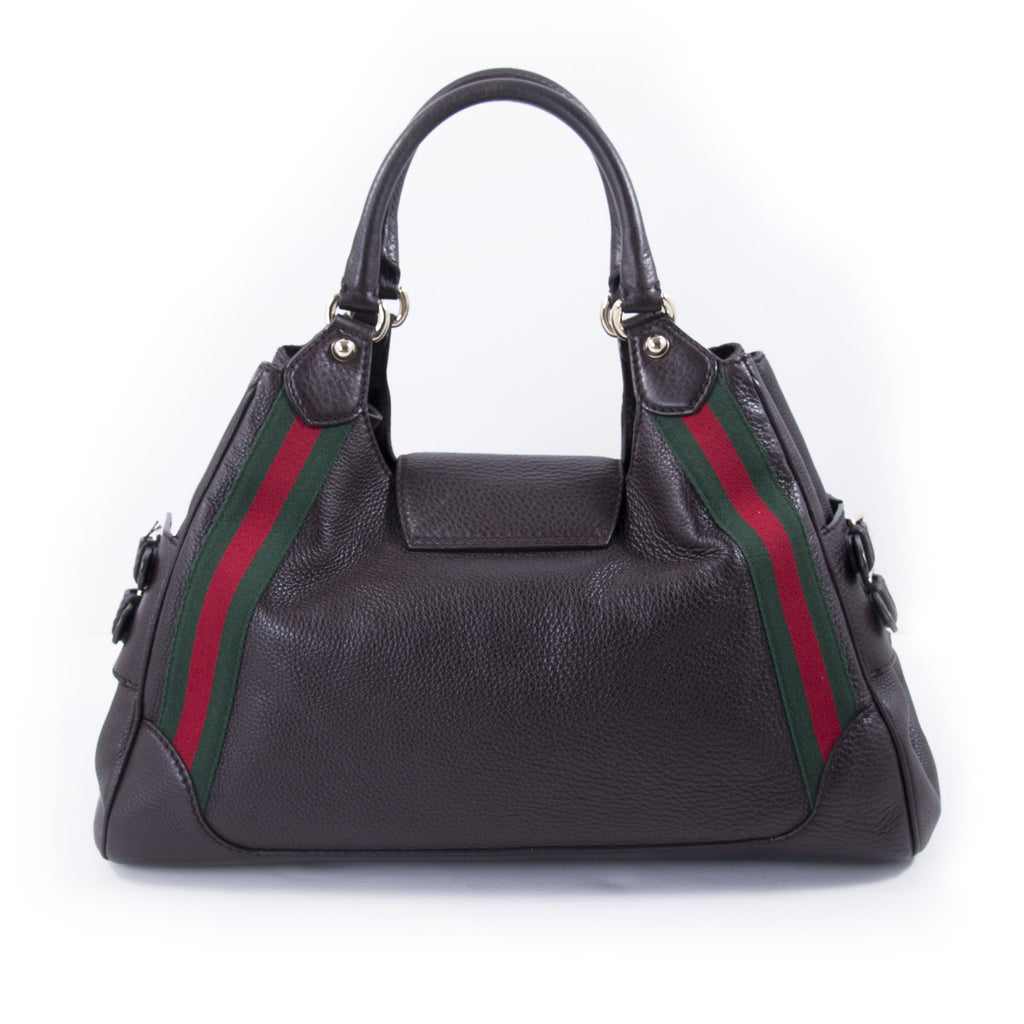 Gucci Web Large Leather Handle Bag Bags Gucci - Shop authentic new pre-owned designer brands online at Re-Vogue