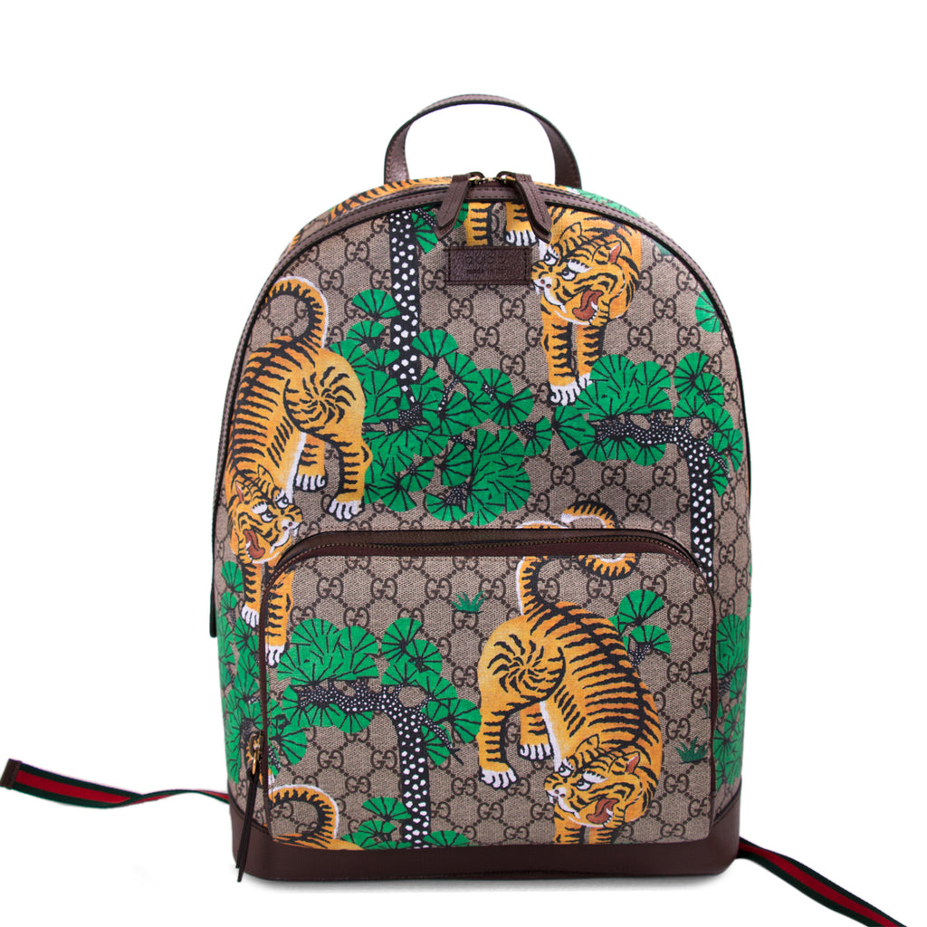 f3cc40fdceef Shop authentic Gucci Bengal GG Supreme Backpack at revogue for just ...