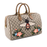 Gucci GG Supreme Embroidered Boston Bag Bags Gucci - Shop authentic new pre-owned designer brands online at Re-Vogue