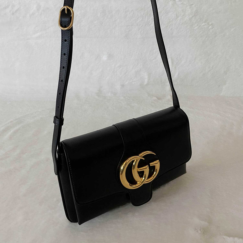Gucci GG Marmont Leather Aril Shoulder Bag