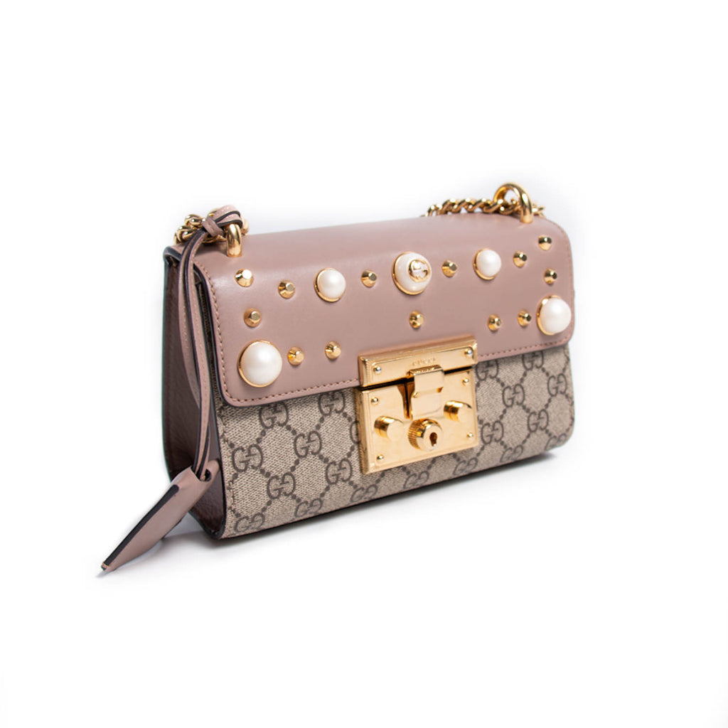Gucci Studded Padlock Shoulder Bag Bags Gucci - Shop authentic new pre-owned designer brands online at Re-Vogue
