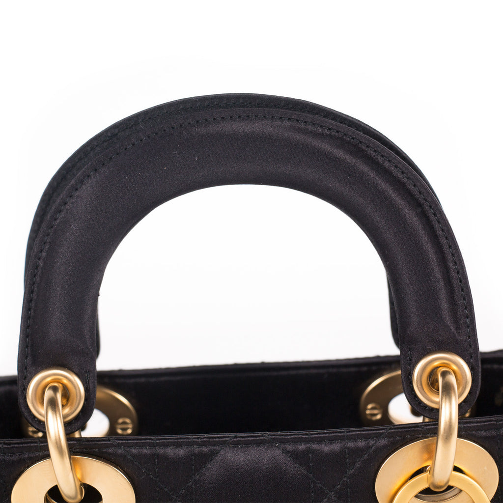Christian Dior Satin Micro Lady Dior Bags Dior - Shop authentic new pre-owned designer brands online at Re-Vogue