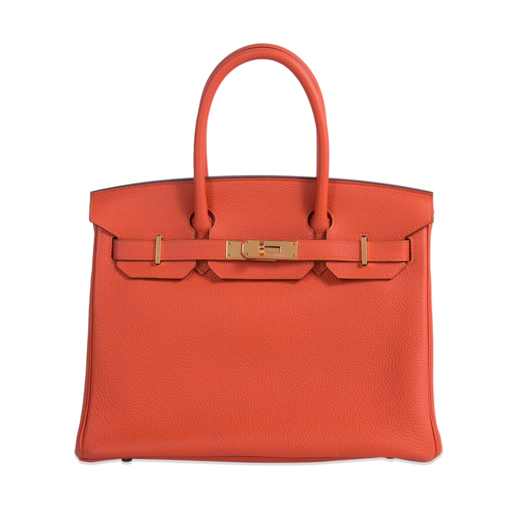 Hermès Birkin 30 Orange Togo Leather