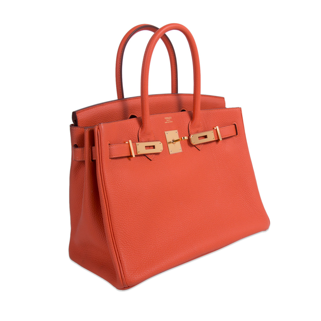 Hermès Birkin 30 Orange Togo Leather Bags Hermès - Shop authentic new pre-owned designer brands online at Re-Vogue